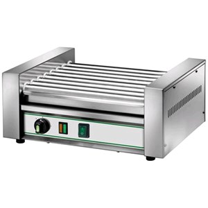 FRANKFURTER AND SAUSAGE ROLLER - Mod. RW8 - Power 1,8 kW - 8 rollers - 230V single phase - CE APPROVED