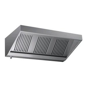 """Grade AISI 430  """"snack"""" wall-mounted hood (no motor) - baffle filtres"""