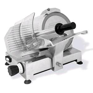 GRAVITY SLICER mod. FAP 250 - EC standards - RoHS - Stainless steel blade Ø 250 - Useful cut mm 230x175 - Fixed blade sharpener