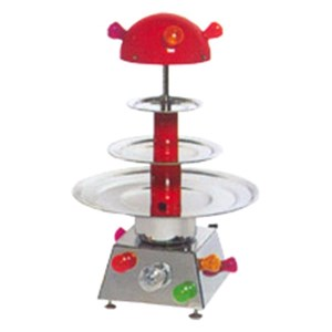 COUNTERTOP WATER FOUNTAIN - MOD. MINI - Stainless steel - N. 3 tiers - Flickering light - Capacity lt. 3 - Power 100 W - 230 V single phase supply - Dimensions cm H 77 - EC standards