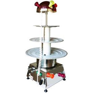 COUNTERTOP WATER FOUNTAIN - MOD. MIDI - Stainless steel - N. 3 tiers - Flickering light - Capacity lt. 6 - Power 100 W - 230 V single phase supply - Dimensions cm H 95 - EC standards