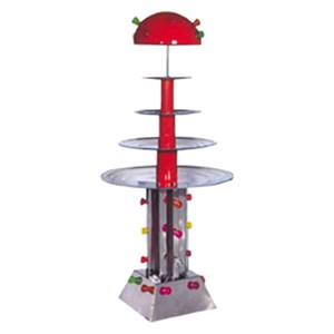 WATER FOUNTAIN - MOD. MAXIC/ILLUMINAZIONE - Stainless steel - N. 4 tiers - Flickering light - Capacity lt. 25 - Power 220 W - 230 V single phase supply - Dimensions cm L 80 X D 80 X H 160 - EC standards