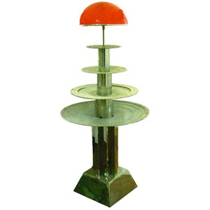 WATER FOUNTAIN - MOD. MAXIS/ILLUMINAZIONE - Stainless steel - N. 4 tiers - No lighting - Capacity lt. 25 - Power 180 W - 230 V single phase supply - Dimensions cm L 80 X D 80 X H 160 - EC standards