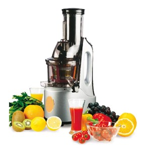 FRUIT AND VEG SLOW JUICER - MOD. ET2102 - FRUIT AND VEGETABLES ARE COLD PRESSED TO PRESERVE VITAMINS AND NUTRIENTS - SLOW JUICER - N. 60 RPM - POWER W 240 - DIM. Cm L 21 x D 25 x 49 h - EC STANDARDS