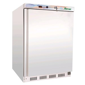 UPRIGHT FRIDGE - PAINTED STEEL/ABS EXTERIOR - STATIC COOLING - ECO - Mod G-ER200 - ENERGY CLASS A - SINGLE SOLID DOOR - CAPACITY LT 130 - TEMPERATURE RANGE +2º/+8ºC - Dimensions cm L60 x D58,5 x h85,5 - CE APPROVED