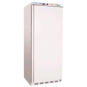 UPRIGHT FREEZER - PAINTED STEEL/ABS EXTERIOR - STATIC COOLING - ECO - Mod. G-EF600 - SINGLE SOLID DOOR - CAPACITY LT 555 - TEMPERATURE RANGE -18º/-22ºC - Dimensions cm L77,7 x D69,5 x h189,5 - CE APPROVED