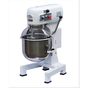 PLANETARY MIXER - Mod. IP 10 - Cast iron base - Stainless steel bowl - Bowl capacity lt 10 - Power kW 0,6 - Single phase - Dimensions cm L 47 x D 38 x 68h - EC standards