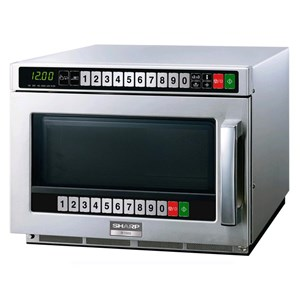 TWIN TOUCH MICROWAVE OVEN with twin control panel - stainless steel - Mod. R1500AT - Ceramic plate - Quick defrost - Capacity lt. 21 - Holds n. 1 GN tub 1/2 or n. 2 GN tubs 1/3 - Power output W 1500 - Single phase 230V - CE marked