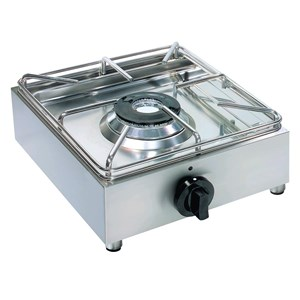 GAS BOILING TOP - 1 BURNER - MOD. BIG5001L - 1 GAS BURNER (various combinations can be chosen) - Power kW 3,5 or 2,5 according to composition - DIMENSIONS cm L 31,5 x D 33 x 15 h