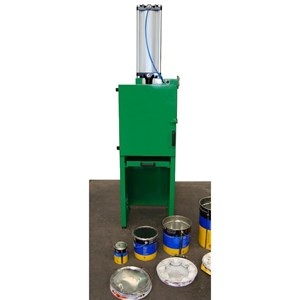 CAN CRUSHER - MOD. E010 - ELECTRO WELDED STEEL STRUCTURE - FOR CANS AND KEGS UP TO 30 lt CAPACITY - AUTOMATIC CYCLE - SAFETY SWITCH ON FRONT FLAP - SILENT PRESSURIZED AIR - CYCLE TIME 40 SECONDS - DIMENSIONS cm L 50 x D 52 x 200 H