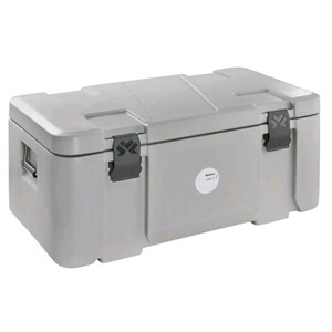 ISOTHERMAL CONTAINER, TOP LID - MOD. MAILLON - FOR THE TRANSPORT OF PERISHABLE PRODUCTS, PRESERVED CHILLED, FROZEN OR AT ROOM TEMPERATURE - CAPACITY' Lt. 68 - DIMENSIONS cm L 85 x D 45 x 39 H - EC STANDARDS