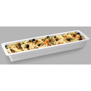 GN 2/4 WHITE MELAMINE GASTRONOMY BASIN (mm. L 530 x P 162)-RESISTANT to breakage and SAFE for CONTACT with ANY FOOD ITEM-DISHWASHER SAFE