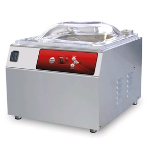 COUNTERTOP CHAMBER VACUUM PACKAGING MACHINE PLUTONE LINE mod. SPRINT - DIGITAL CONTROL PANEL - Sealing bar mm 400 - EC standards