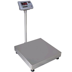 FLOOR SCALE - MOD. A12 - CAPACITY CHOICES: Kg 60/150/300 - Stainless steel weighplate - EC standards