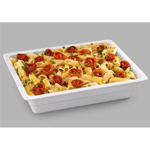 GN 1/2 WHITE MELAMINE FOOD TRAY (mm. L 325 x P 265)-RESISTANT to breakage and SAFE for CONTACT with ANY FOOD ITEM-DISHWASHER SAFE