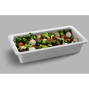 GN 1/3 WHITE MELAMINE FOOD TRAY (mm. L 325 x d 175)-RESISTANT to breakage and SAFE for CONTACT with ANY FOOD ITEM-DISHWASHER SAFE