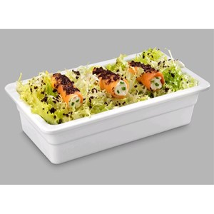 DRAIN 1/4 mm MELAMINE WHITE GN GASTRONOMY. L 265 x w 162 x 65h-RESISTANT to breakage and SAFE for CONTACT with ANY FOOD ITEM-DISHWASHER SAFE