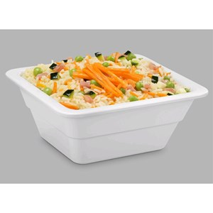 GN 1/6 WHITE MELAMINE FOOD TRAY (mm. L 176 x d 162)-RESISTANT to breakage and SAFE for CONTACT with ANY FOOD ITEM-DISHWASHER SAFE