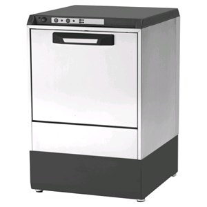 """ELECTRONIC GLASSWASHER - AISI 304 STAINLESS STEEL 18/10 - MODEL 6322 VZ - CLEARANCE MAX HEIGHT cm 29 - ROUND RACK, diameter cm 41 - CYCLE 120"""" - RINSE AID DISPENSER - Total dimensions cm L 47,5 x D 50,5 x h 71,9"""