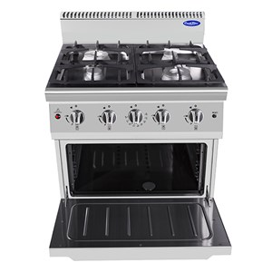 GAS COOKER - Mod. CV9I4DQ1 - NO. 4 BURNERS WITH STATIC GAS OVEN - PILOT LIGHT - Power kW 42,5 - Dimensions cm L 80 x D 90 X H 114 - CE approved