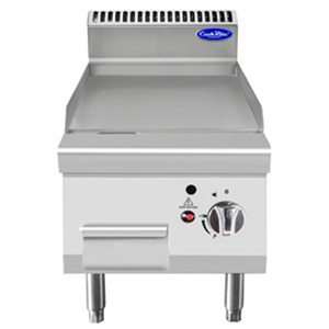 COUNTERTOP GAS GRIDDLE WITH SMOOTH STAINLESS STEEL PLATE - Mod. CV7I4IEC - Power kW 7 - Dimensions cm L 40 x D 70 X H 54,7 - CE approved