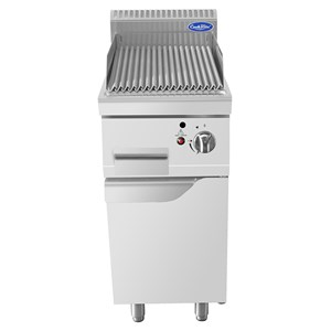 GAS LAVA STONE GRILL - Mod. CV9I4EH - AMBIENT CUPBOARD WITH HINGED DOOR - Power kW 9 - Dimensions cm L 40 x D 90 X H 114 - CE approved