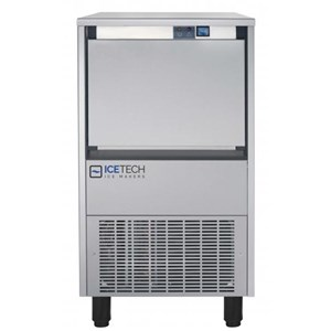 FLAKE ICE MACHINE - Cod. CD 55 - CAPACITY Kg 20 - AIR-COOLED VERSION PRODUCES UP TO kg/h 48 - WATER-COOLED VERSION PRODUCES UP TO kg/h 52 - Dim. cm L 46,5 x D 59,5 x H 78,4 - CE approved