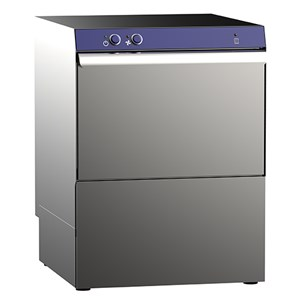 """AISI 304 STAINLESS STEEL MECHANICAL DISHWASHER - Mod. G 50 GEM V - WITH DRAIN PUMP - THREE PHASE - MAX HEIGHT CLEARANCE 33 cm - SQUARE RACK 50 x 50 cm - CYCLE 180"""" - RINSE AID DISPENSER - Dimensions L 56,5 x D 61 x h 82,5 cm"""