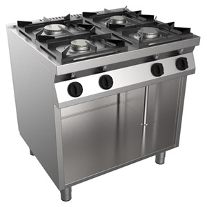 GAS COOKER, FREE-STANDING, 4-BURNERS - MOD. F7/KUG4BA - Ambient cupboard - Without pilot light - Power kW 19 - Dimensions: cm L 80 x D 70 x H 85 - CE approved
