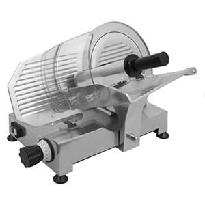 GRAVITY SLICER mod.GPE 300 - EC standards - RoHS - Non-stick chromed steel blade with special grooves Ø 300 - Useful cut mm 200 x 190 - Blade sharpener included