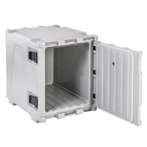 ISOTHERMAL CONTAINER, FRONT ACCESS DOOR - MOD. KOALA 150 - STATIC RUCKSACK FRIDGE - PLUGS INTO CAR CIGARETTE LIGHTER - FOR THE TRANSPORT OF FOOD OR NON-FOOD PRODUCTS, PRESERVED CHILLED OR AT ROOM TEMPERATURE - CAPACITY' Lt. 148 - DIMENSIONS cm L 57 x D 95 x 69 H - EC STANDARDS