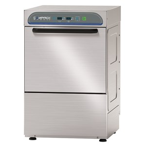 ELECTRONIC STAINLESS STEEL GLASS WASHER - MOD. 29AL - SINGLE PHASE SUPPLY - ELECTRONIC CONTROL SYSTEM - CLEARANCE MAX HEIGHT cm 27,5 - SQUARE RACK cm 40x40 - CYCLE (sec) 90/120/150/180 - ADJUSTABLE DETERGENT AND RINSE AID DOSER - Total dimensions cm L47 x D55,5 x h70