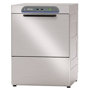 ELECTRONIC STAINLESS STEEL DISHWASHER - MOD. 54AL - SINGLE PHASE SUPPLY - ELECTRONIC CONTROL SYSTEM - CLEARANCE MAX HEIGHT cm 31 - SQUARE RACK cm 50x50 - CYCLE (sec) 90/120/150/180 - ADJUSTABLE DETERGENT AND RINSE AID DOSER - Total dimensions cm L58,5 x D68 x h80,5