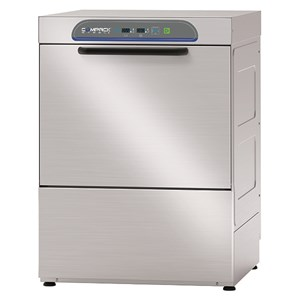 ELECTRONIC STAINLESS STEEL DISHWASHER - MOD. 56AL - THREE PHASE SUPPLY - ELECTRONIC CONTROL SYSTEM - CLEARANCE MAX HEIGHT cm 31 - SQUARE RACK cm 50x50 - CYCLE (sec) 90/120/150/180 - ADJUSTABLE DETERGENT AND RINSE AID DOSER - Total dimensions cm L58,5 x D68 x h80,5
